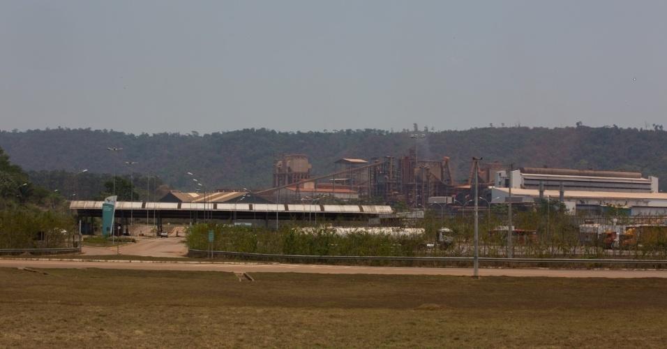 1º.dez.2017 - Entrada de Onça Puma da mineradora Vale. Local é uma das causas de contaminação do rio Cateté