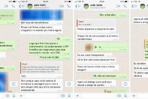 Golpistas fingem ser técnicos de times para roubar dinheiro via WhatsApp (Foto: Reprodução)