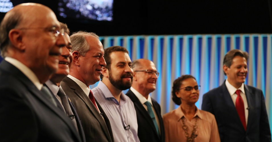4.out.2018 - Candidatos à Presidência da República participam do debate da TV Globo