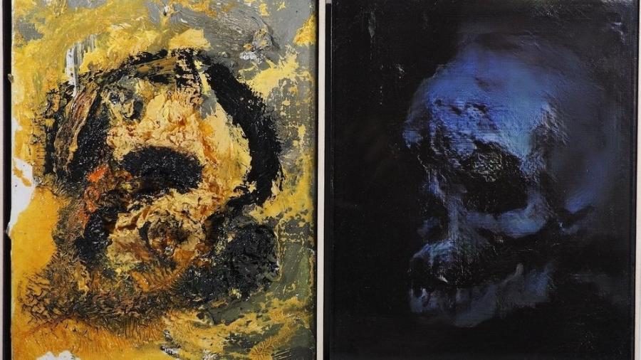 Pintura de crânio feita pelo artista Ronan Barrot foi usada para treinar inteligência artificial criada por Robbie Barrat - Reprodução