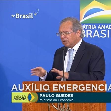 O ministro da Economia Paulo Guedes - Reprodução