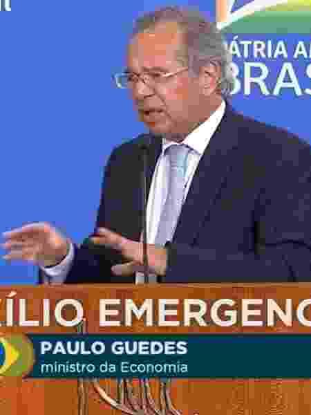 Paulo Guedes, ministro da Economia, fala sobre extensão do auxílio emergencial - Reprodução