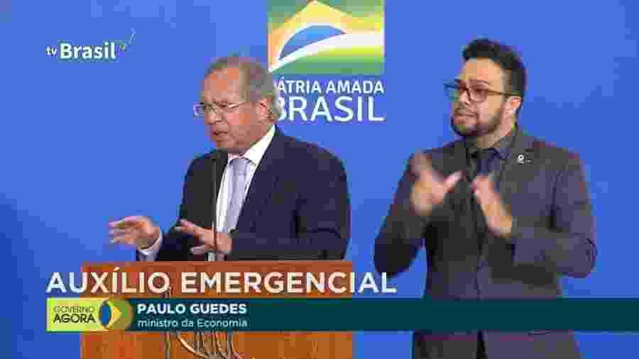 Paulo Guedes, ministro da Economia (à esquerda na imagem) - Reprodução