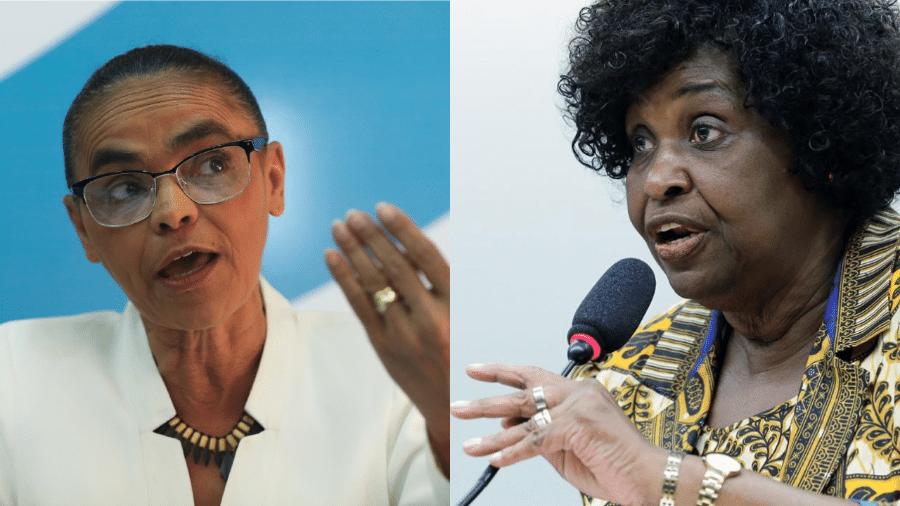 As ex-ministras Marina Silva (Rede Sustentabilidade) e Benedita da Silva (PT)  - Wilson Dias/Agência Brasil; Najara Araujo/Câmara dos Deputados