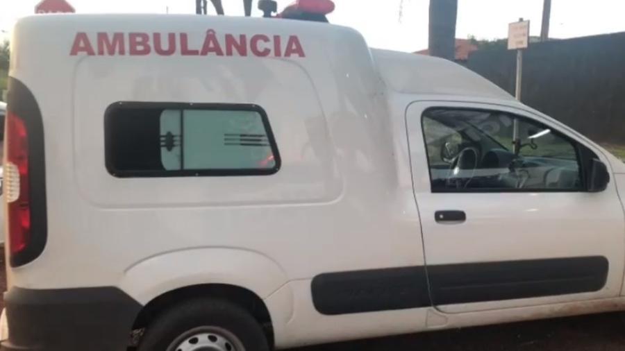 Ambulância usada para transportar drogas em Goiás - Divulgação/PM