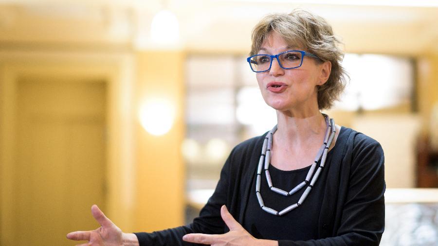 19.jun.2019 - Agnès Callamard  foi nomeada secretária-geral da Anistia Internacional - Fabrice Coffrini/AFP