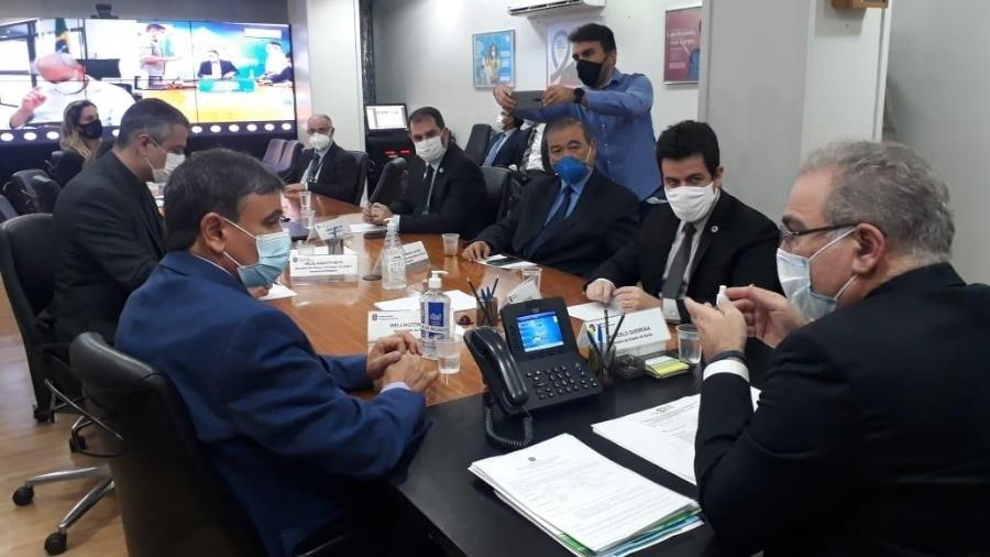 Governadores se reúnem com o ministro da Saúde, Marcelo Queiroga - Andre Oliveira/Divulgação