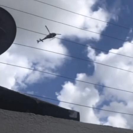 Declaração em helicóptero foi registrada pela mulher do PM e acabou chegando ao comando do oficial - Reprodução/Redes Sociais
