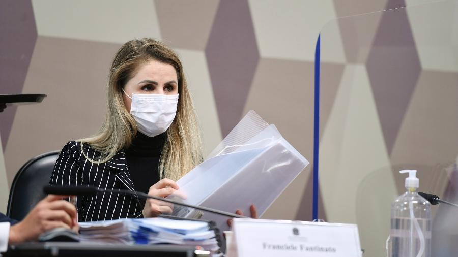 Francieli Fantinato na CPI da Covid - Edilson Rodrigues/Edilson Rodrigues/Agência Senad