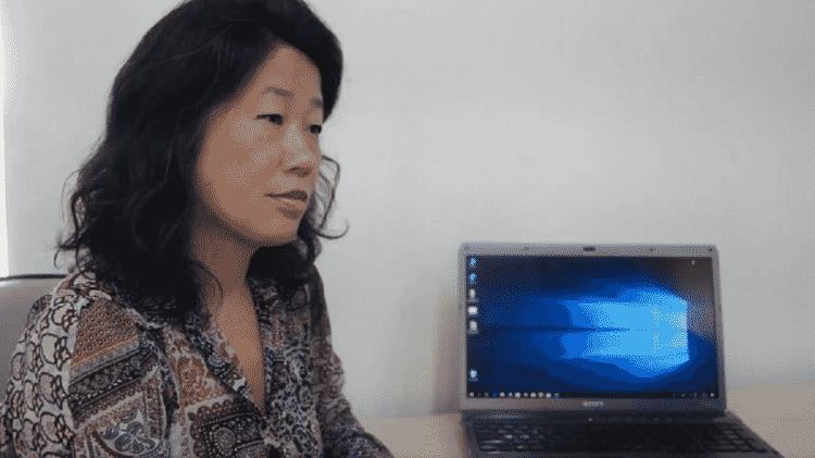 Naomi Yagamuchi conversa com homem anônimo em vídeo de 2018 que hoje é citado por Bolsonaro - Reprodução/Facebook - Reprodução/Facebook