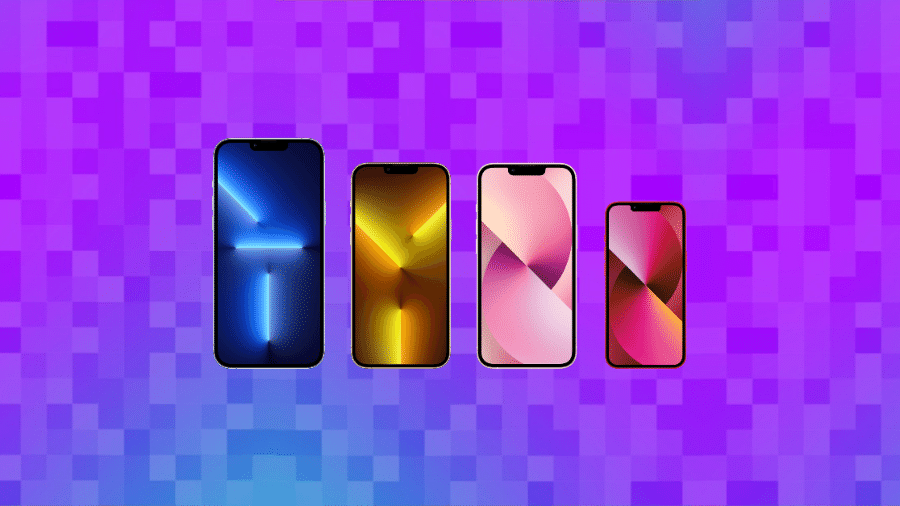 iPhone 13 Pro Max, iPhone 13 Pro, iPhone 13 e iPhone 13 mini,  (da esq. para dir.) - Reprodução/Tilt