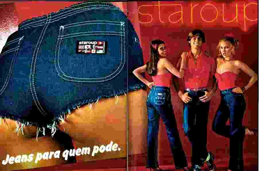 Anúncio antigo da Staroup, marca de jeans que foi sucesso nos anos 1980 - Reprodução