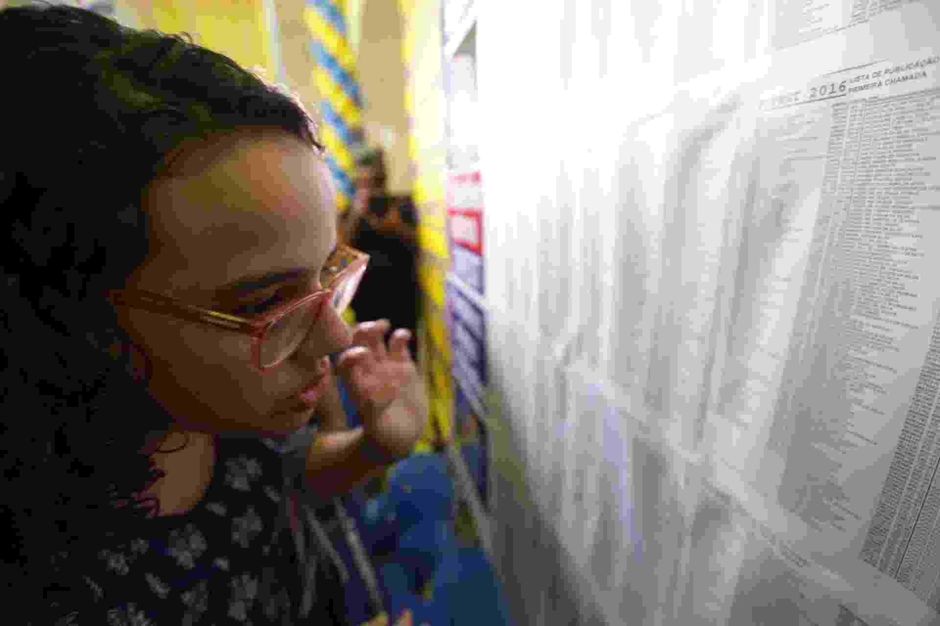 2.fev.2016 - A Fuvest divulgou nesta terça-feira a lista de aprovados no vestibular 2016. Confirmação de interesse deve ser feita pela internet até amanhã - Danilo Verpa/Folhapress