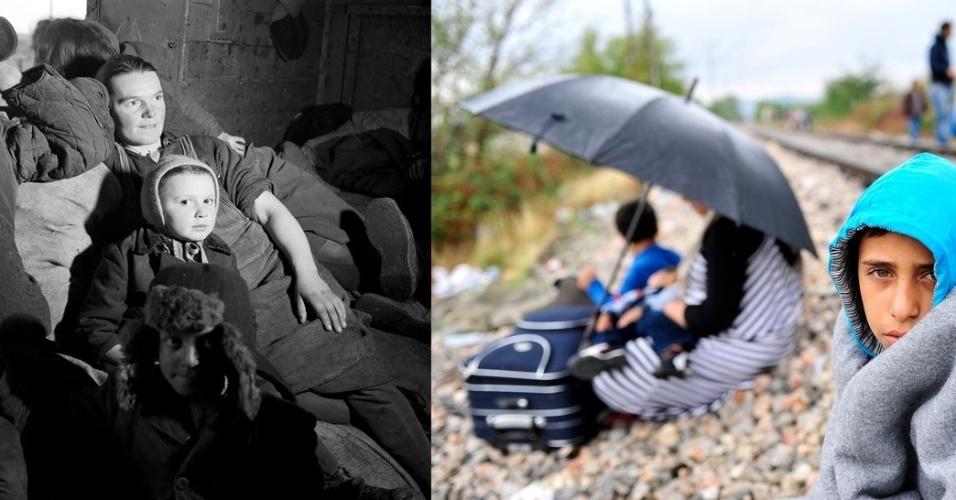 Duas famílias, duas épocas, duas histórias. Em 1946, na Polanda, família de refugiados descansa em seus pertences durante viagem. Em 2015, na Macedônia, um garoto se enrola em cobertor ao lado de uma linha de trem que tem a Sérvia como destino