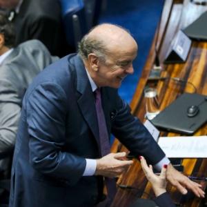 O senador José Serra (PSDB-SP) durante reunião em plenário