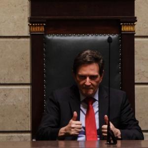 1º.jan.2017 - O prefeito eleito do Rio de Janeiro, Marcello Crivella (PRB), durante a solenidade de posse