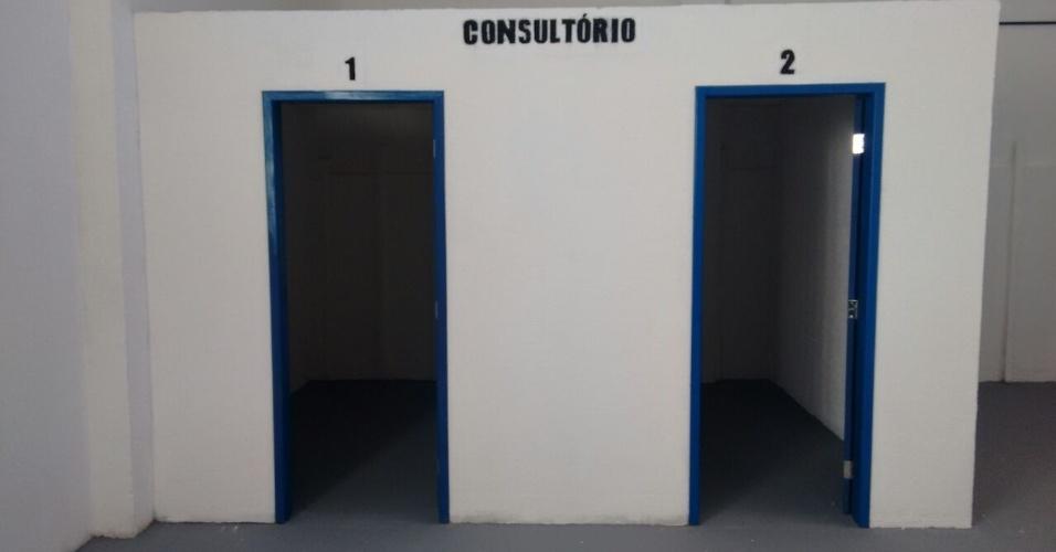 A reforma dos pavilhões contempla a criação de consultórios médicos e paralatórios
