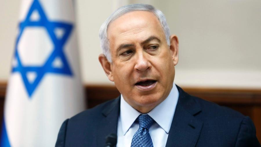O primeiro-ministro israelense, Benjamin Netanyahu, durante reunião semanal - Ronen Zvulun/AFP