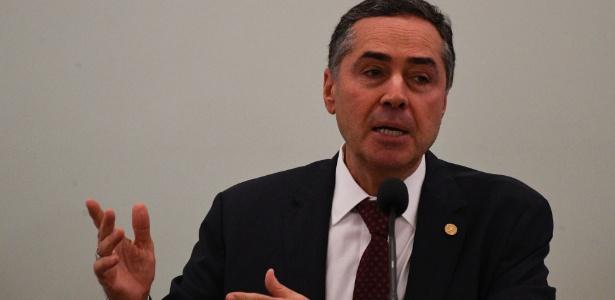 14.mar.2018 - Ministro Luis Roberto Barroso, do STF (Supremo Tribunal Federal), participa de evento em Brasília