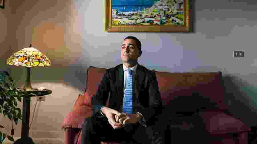 Luigi Di Maio, ex-líder do Movimento 5 Estrelas, na Itália - Gianni Cipriano/The New York Times
