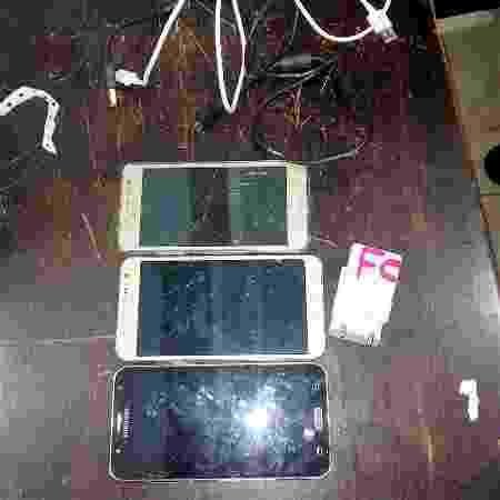 Foram apreendidos três celulares com o drone  - Divulgação/Sispen-MT