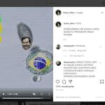 Página vinculada ao gabinete de Eduardo Bolsonaro publicou vídeo atacando STF, Câmara e Senado - Reprodução