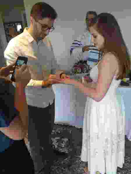 Casamento de Letícia Gandara Lima e Davi Almeida Sampaio Lima é transmitido para os amigos via live - Arquivo pessoal - Arquivo pessoal