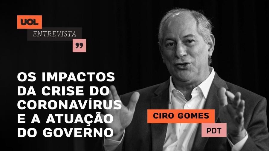 UOL Entrevista com Ciro Gomes - Arte para chamada de UOL Entrevista - 09.04.20