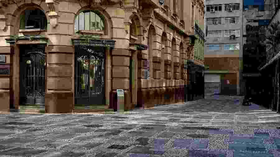 Centro histórico de São Paulo vazio durante a quarentena - SUAMY BEYDOUN/ESTADÃO CONTEÚDO
