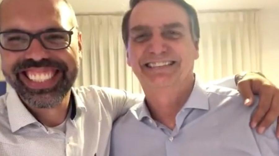 Youtuber Allan dos Santos e o presidente Jair Bolsonaro - Reprodução de vídeo