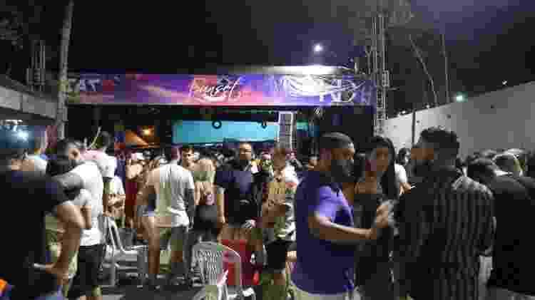 Festa clandestina em Manaus no final de dezembro, quando cidade tinha hospitais lotados - Carlos Soares/SSP-AM/Divulgação - Carlos Soares/SSP-AM/Divulgação