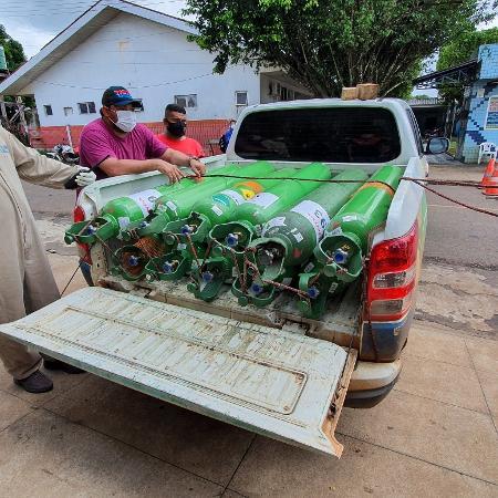 Hospitais do Amazonas enfrentam escassez de oxigênio durante pandemia de covid-19 - Carlos Madeiro/UOL