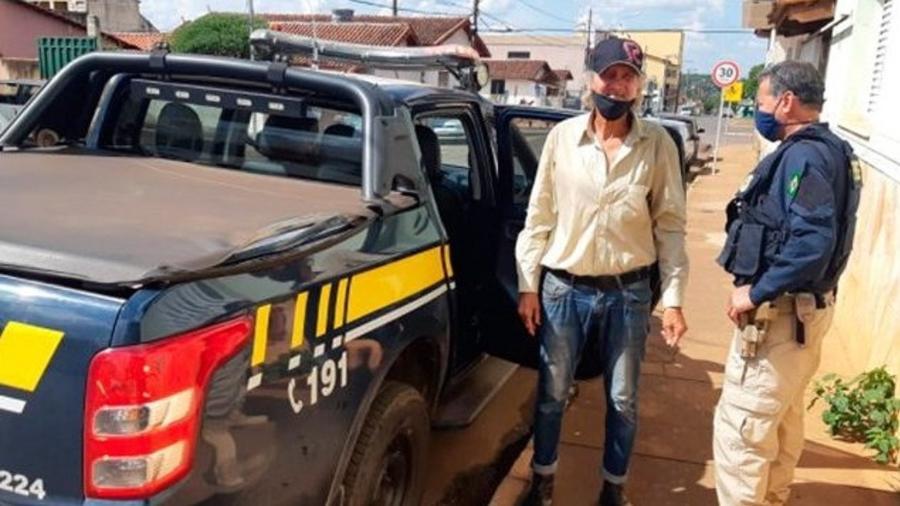 José Costa, 73 anos, tentava chegar a pé a Uberlândia (MG) - PRF/Divulgação