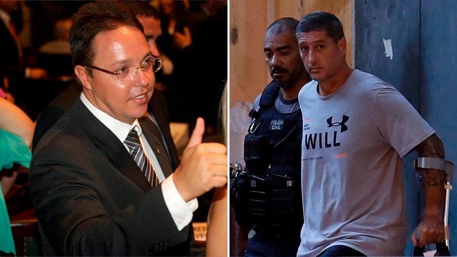 O ex-vereador do Rio Cristiano Girão (à esq.) e Ronnie Lessa (à dir.) - Arte/UOL