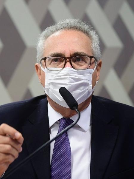19.ago.2021 - O senador Renan Calheiros (MDB-AL), relator da CPI da Covid, durante sessão da comissão - Pedro França/Agência Senado