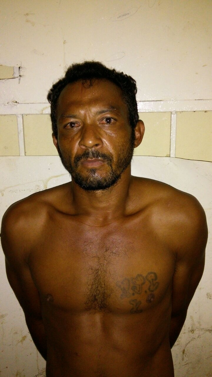 O preso Adão José da Silva Sousa, 40, apontado como mentor de estupro coletivo em Castelo do Piauí