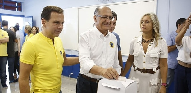 João Doria, pré-candidato pelo PSDB à prefeitura, acompanha o governador Geraldo Alckmin nas prévias