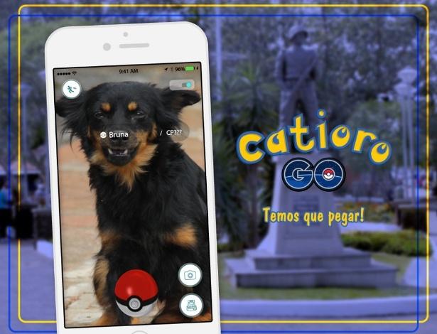 """Prefeitura de Esteio pegou carona na febre do """"Pokémon Go"""" e criou o """"Catioro Go"""""""