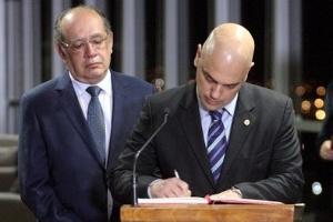 25.abr.2017 - Ministro Alexandre de Moraes toma posse no TSE