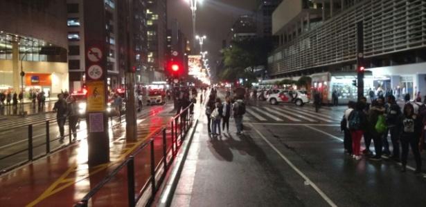 Após chuva, parta dos manifestantes começa a dispersar em SP - UOL