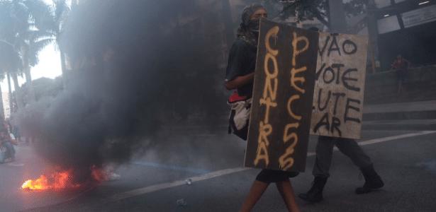 Na semana passada manifestantes entraram em confronto com a Polícia Militar durante a votação do pacote de austeridade, aprovado pela casa