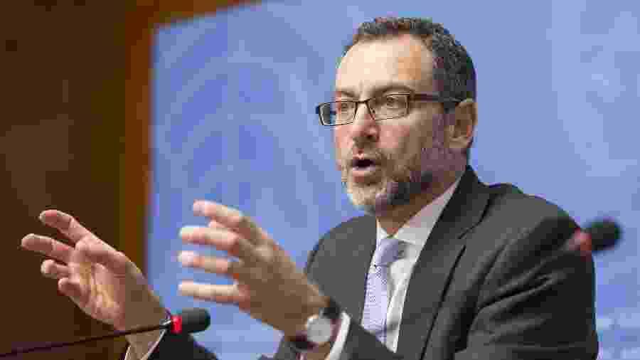 Toby Lanzer, o coordenador da ONU para a assistência humanitária ao Afeganistão em conferência da ONU, em Genebra - Xinhua/Xu Jinquan