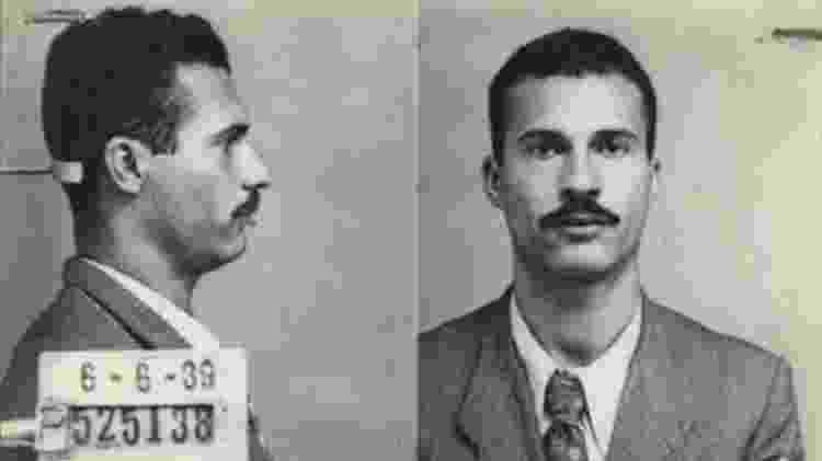 Marighella em 1939, em uma de suas prisões; ele foi um dos líderes da luta armada contra a ditadura - Comissão da Verdade do Estado de São Paulo/Reprodução/BBC