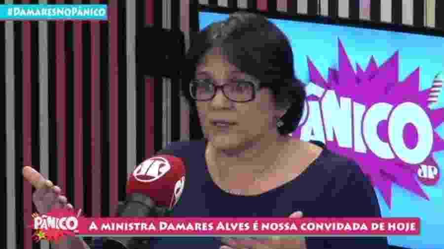 Damares Alves, ministra da Mulher, da Família e dos Direitos Humanos - Reprodução/Jovem Pan