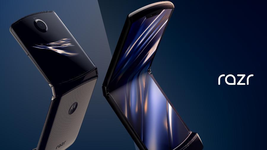 Motorola Razr Celular Flip Com Tela Flexível Revive O
