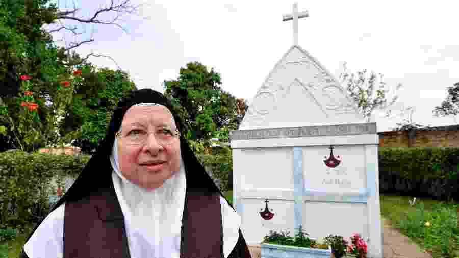 Madre Thereza Maria de São João da Cruz fez a primeira exumação dos restos mortais -- que se encontravam intactos e preservados -- de Maria do Carmo da Santíssima Trindade, mais conhecida como Madre Carminha de Tremembé (imagem de arquivo) - Lucas Lucaz Ruiz/Folha Imagem