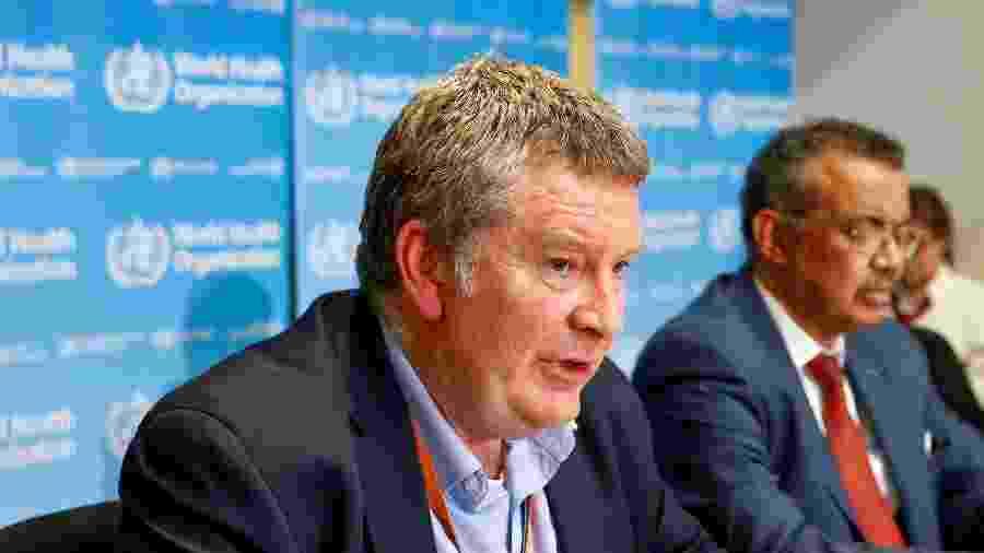 Diretor-executivo do programa de emergências da OMS, Mike Ryan, durante entrevista coletiva em Genebra - Reprodução