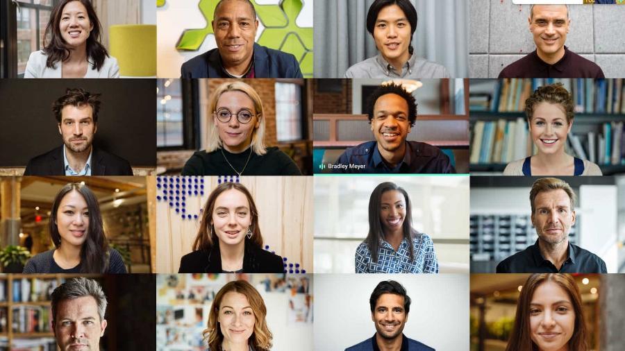Tela do Google Meet, a plataforma de chamadas de vídeo e voz do Google - Divulgação/Google