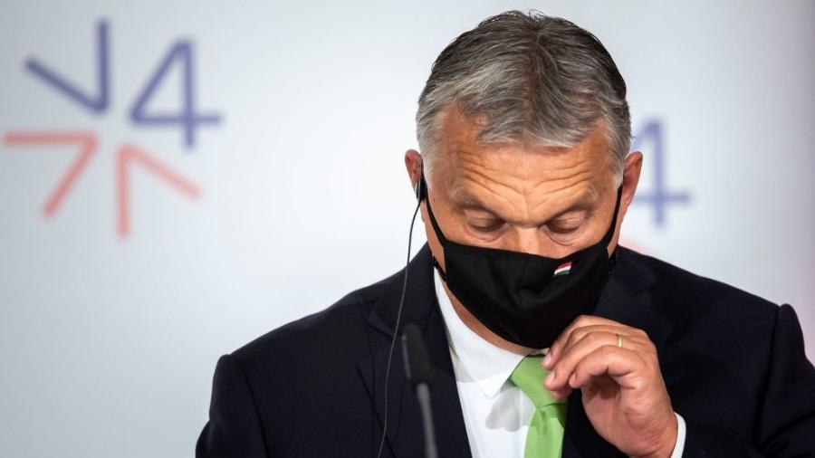 """""""Eu defendo os direitos dos homossexuais. Mas esta lei não é sobre isso"""", afirmou Orbán - Gabriel Kuchta/Getty Images"""