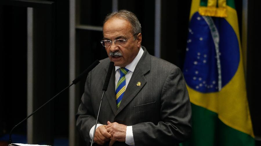 Senador Chico Rodrigues (DEM-RR), vice-líder do governo, discursando no plenário - Dida Sampaio/Estadão Conteúdo